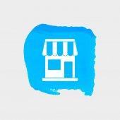 Building web icon — Stock Vector