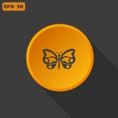 Butterfly web icon — Stock Vector