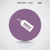 Label web icon — Vector de stock