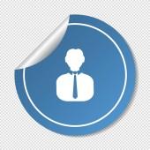 Icon person on button — Stock Vector