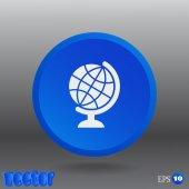 Globe web icon — ストックベクタ