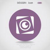 Lens web icon — Stockvektor