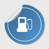 Autorefuelling web icon — Stock Vector