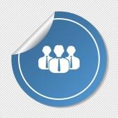 People web icon — Stock Vector
