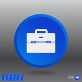 Business bag for documents web icon — Stock Vector