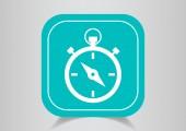 Stopwatch web icon — Stock Vector