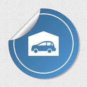 Garaged car, web icon. — Vettoriale Stock
