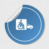Auto voor handicap pictogram — Stockvector