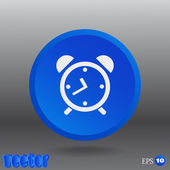 Clock Web icon. — Stock Vector