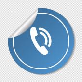 Иконка Интернет телефон — Cтоковый вектор