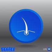 Hair, Web icon — Vector de stock