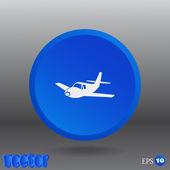 Aircraft Web icon — Stockvektor