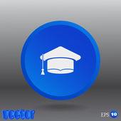 Student graduation hat — Stock Vector