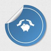 Piggybank web icon — Stock vektor