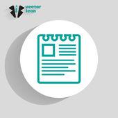 Memo web icon — Stock Vector