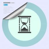 Hourglass web icon — Stock Vector