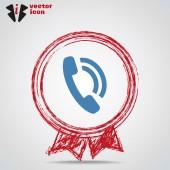 Phone web icon — Stock Vector
