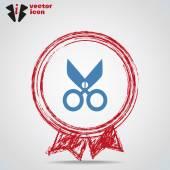 Scissors web icon — Stock Vector