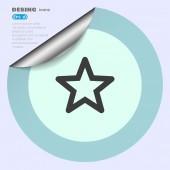 Sterren web pictogram — Stockvector