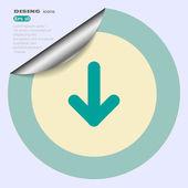 Arrow web icon — ストックベクタ
