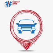 汽车 web 图标 — 图库矢量图片