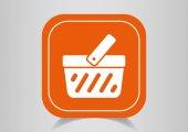 Shopping cart icon — Vecteur