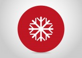 Snowflake web icon — Vector de stock