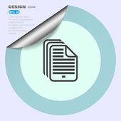 Web bestandspictogram — Stockvector