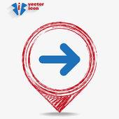 Веб-символ стрелы — Cтоковый вектор