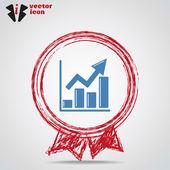 Pictograma de gráfico de negócios — Vetor de Stock