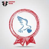 Web icon religion inside Medal. — Stock Vector