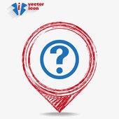 Question web icon — ストックベクタ