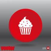 Cupcake web icon — Stock Vector