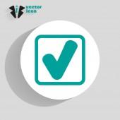 Zkontrolovat web ikony — Stock vektor