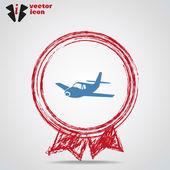 Uçak web simgesi — Stok Vektör