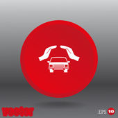 Car in hands icon — Stock Vector