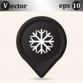 Snowflake web icon — Vetor de Stock