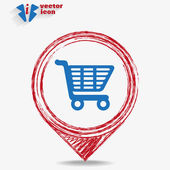Shopping cart web icon — Stockvektor