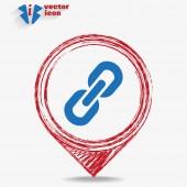 Icône chaîne signe communication web — Vecteur