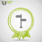 Icon pointer inside Medal. — Stock Vector
