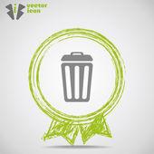 垃圾可以 web 图标. — 图库矢量图片