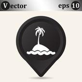Exotische eiland web pictogram — Stockvector