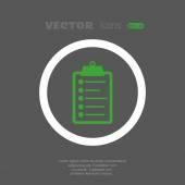 Note web icon — Stock Vector