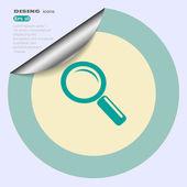 Zoeken web pictogram — Stockvector