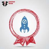 Rocket Web icon — Stock Vector
