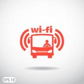 Bus wi-fi icon — Stock Vector