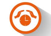 時計の web アイコン — ストックベクタ