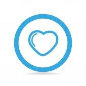 Icono web del corazón — Vector de stock