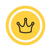 Kroon Vip-pictogram — Stockvector