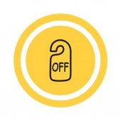 Sign off Web icon — Stock Vector